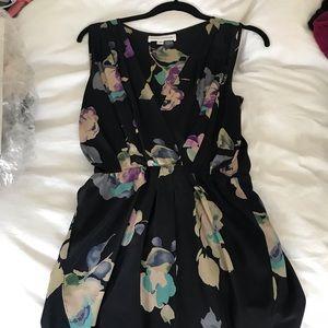 Tulip silk mini dress